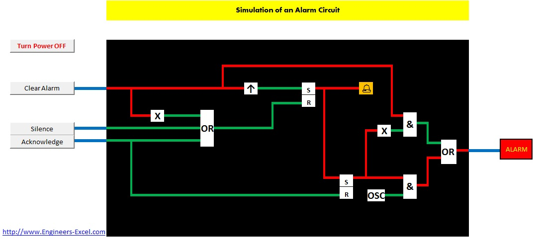 engineers excel com simulation of an alarm circuit rh engineers excel com